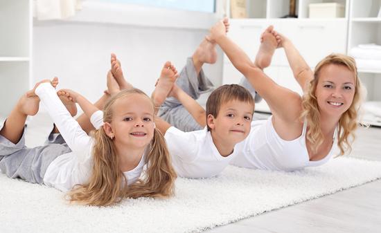Семейная йога - это хорошо